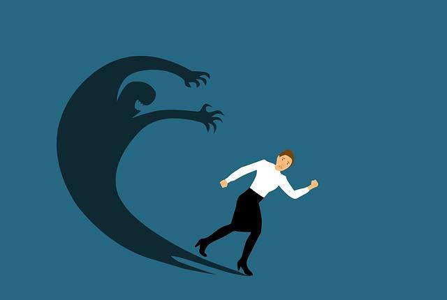 Angst word groter als je er bang voor bent
