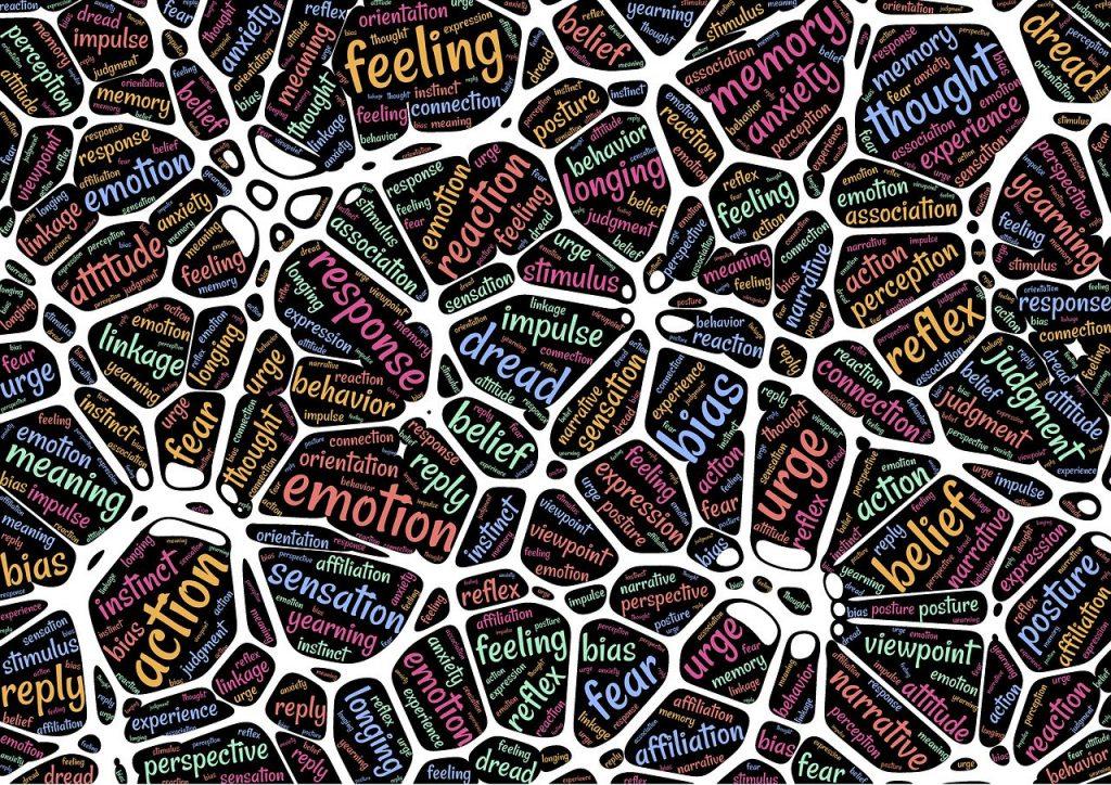 Wat het lichaam vertelt. Een web van emoties en reacties.